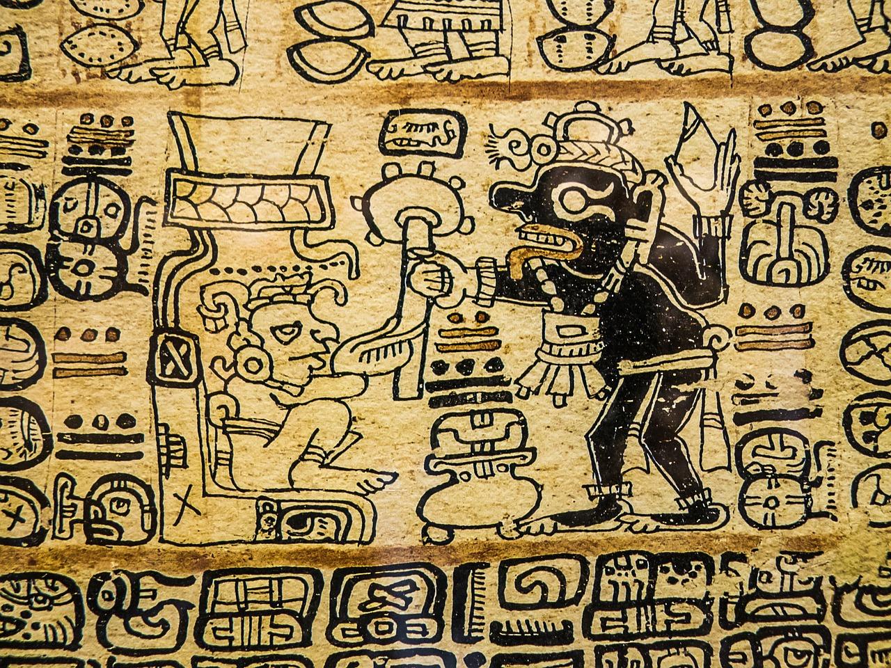 Aztec drawing paddo's